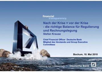 Nach der Krise = vor der Krise - die richtige Balance für Regulierung ...