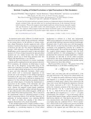 Intrinsic Coupling of Orbital Excitations to Spin Fluctuations in Mott ...