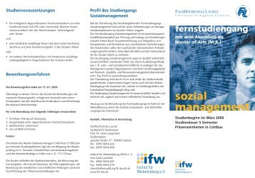 sozial management - IfW