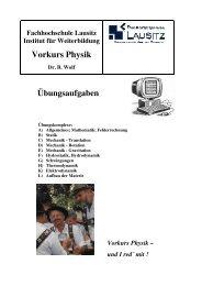 Vorkurs Physik - IfW