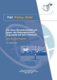 Kiel Policy Brief 29 - Institut für Weltwirtschaft