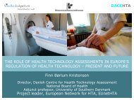 The Role of Health Technology Assessments in Europe's Regulation ...