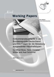 Einkommensteuertarife in der Bundesrepublik Deutschland und ihre ...