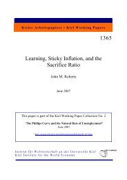 Learning - Sticky Inflation and the Sacrifice Ratio.pdf - Institut für ...