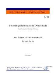 First version (Jun 2007) - Institut für Weltwirtschaft