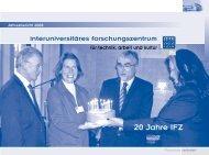 Jahresbericht 2008 - IFZ