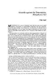 Aristotle against the Determinist: Metaphysics 6.3
