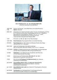 Lebenslauf im Überblick - IFZN - Johannes Gutenberg-Universität ...