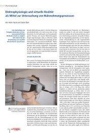Elektrophysiologie und virtuelle Realität als Mittel zur Untersuchung ...