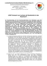 LKW-Transport von Lachsen ab Gambsheim in ... - IG Dreisam e.V.