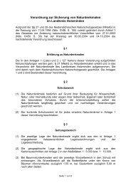 Verordnung zur Sicherung von Naturdenkmalen im Landkreis ...