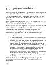 Protokoll Hakenkommission - Klettern im Norden