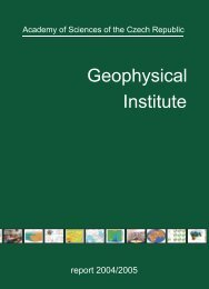 Geophysical Institute of the ASCR