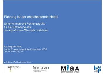 Download der Präsentation (PDF, 679 KB) - Initiative Gesundheit ...