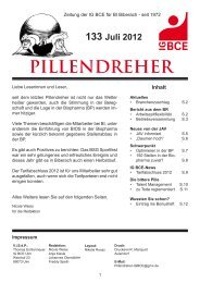 Pillendreher Ausgabe 133 Juli 2012 - IGBCE-Biberach