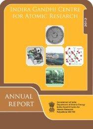 IGC Annual Report 2012 - Indira Gandhi Centre for Atomic Research