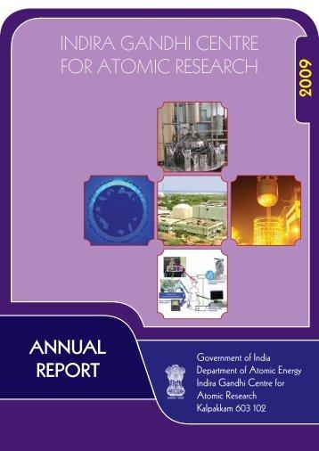IGC Annual Report 2009 - Indira Gandhi Centre for Atomic Research