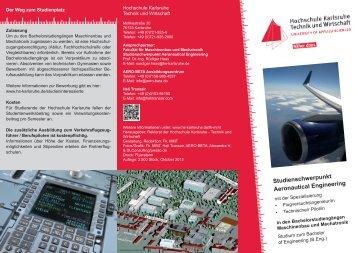 Studienschwerpunkt Aeronautical Engineering - Hochschule ...