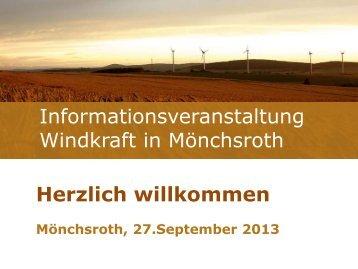 Informationsveranstaltung Windkraft in Mönchsroth Herzlich ...