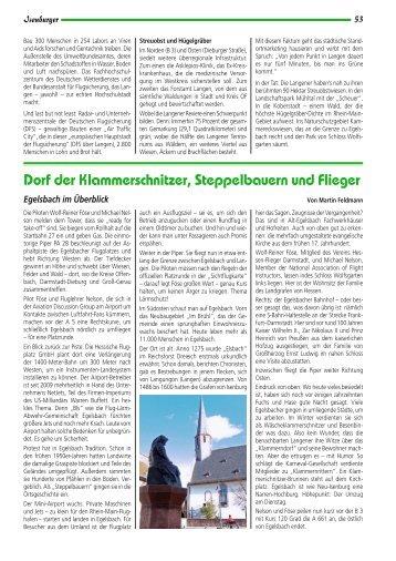 Dorf der Klammerschnitzer, Steppelbauern und Flieger - Isenburger