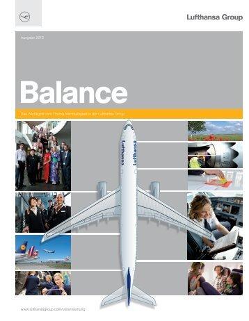 Ausgabe des Nachhaltigkeitsberichts Balance - Deutscher ...