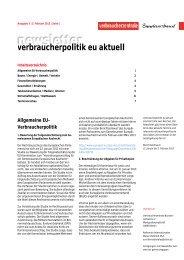Newsletter Verbraucherpolitik EU aktuell 3/2013 - vzbv