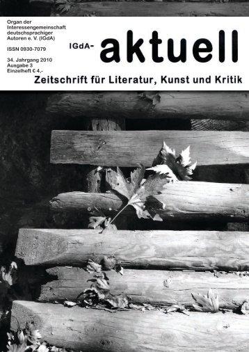 Heft 3 (2010) - Interessengemeinschaft deutschsprachiger Autoren eV