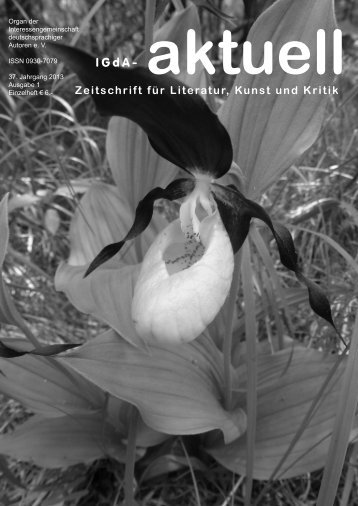 Heft 1 (2013) - Interessengemeinschaft deutschsprachiger Autoren eV