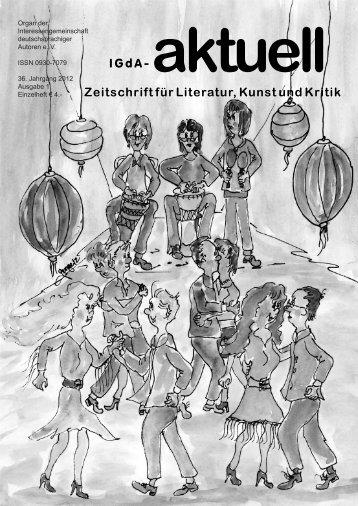 Heft 1 (2012) - Interessengemeinschaft deutschsprachiger Autoren eV