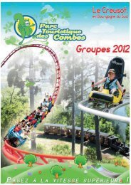 Télécharger le catalogue groupes 2012 - Parc touristique des Combes