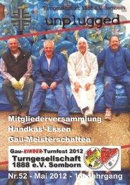 TGS Somborn - Unplugged Nr. 52 Mai 2012 13. Jahrgang