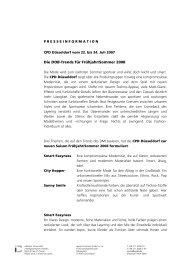 Die DOB-Trends für Frühjahr/Sommer 2008 - Igedo Company