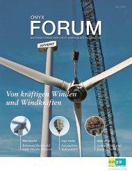 Von kräftigen Winden und Windkräften - Onyx Energie Mittelland