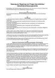 Satzung zur Regelung von Fragen des örtlichen ... - Markt Igensdorf