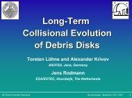 Long-Term Collisional Evolution of Debris Disks