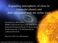 Expanding atmospheres of close-in extrasolar planets and their ...