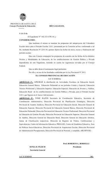 ESTABLECIMIENTOS DE EDUCACIÓN INICIAL - Consejo ...