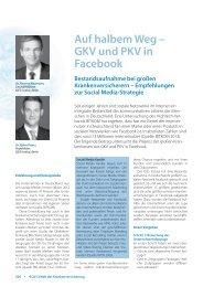 Auf halbem Weg – GKV und PKV in Facebook - IGES Institut GmbH