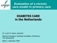 DIABETES CARE in the Netherlands - IGES Institut GmbH