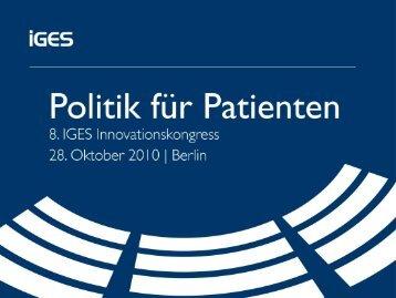Titelfolie ohne Bild - IGES Institut GmbH