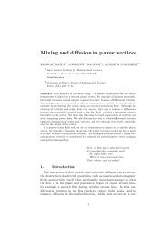 Mixing and diffusion in planar vortices