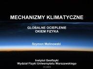 Mechanizmy Klimatyczne - Globalne ocieplenie ... - Instytut Geofizyki