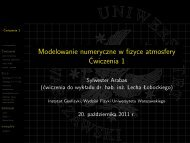 slajdy [PDF, 0,9 MiB] - Instytut Geofizyki
