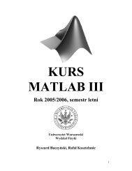 KURS MATLAB III - Instytut Geofizyki