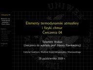 slajdy [PDF, 0,4 MiB] - Instytut Geofizyki