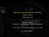 Elementy termodynamiki atmosfery i fizyki chmur ... - Instytut Geofizyki