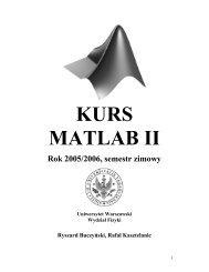 KURS MATLAB II - Instytut Geofizyki