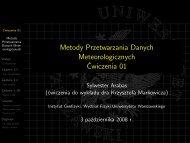 slajdy [PDF, 2,3 MiB; md5] - Instytut Geofizyki
