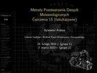 Metody Przetwarzania Danych ... - Instytut Geofizyki