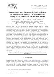 Dynamics of an axisymmetric body spinning on a horizontal surface ...